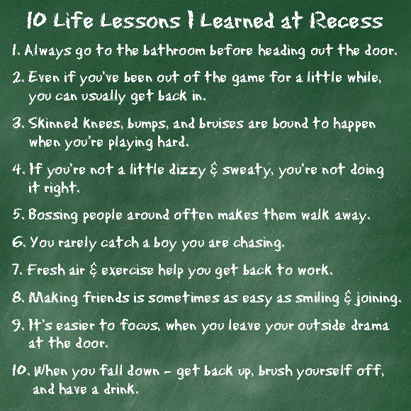 10-Recess-Lessons