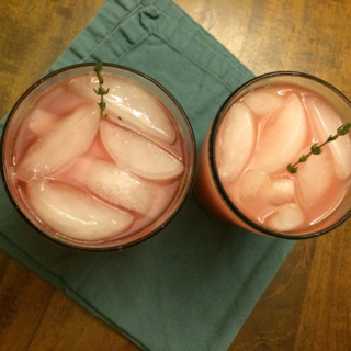 Rhubarb-thyme margarita | Girl Next Door Podcast